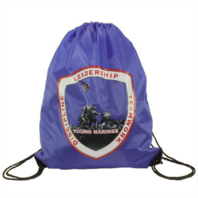Vanguard YOUNG MARINES LARGE DRAWSTRING BACKPACK BLUE
