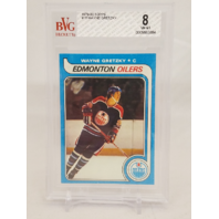 WAYNE GRETZKY 1979-80 Topps #18 Rookie Card Graded BVG 8 NM-MT BGS RC Oilers