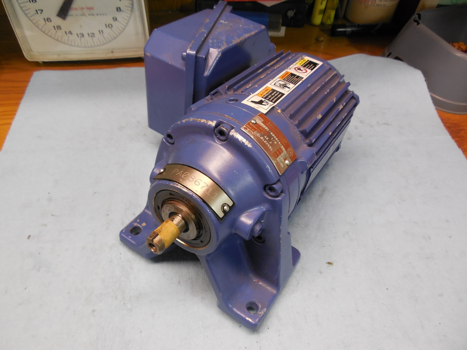 Sumitomo Sm Cyclo Cnhms01 6060ya 29 Gear Motor 1 8 Hp Machine Shop Tooling M J Tooling Llc