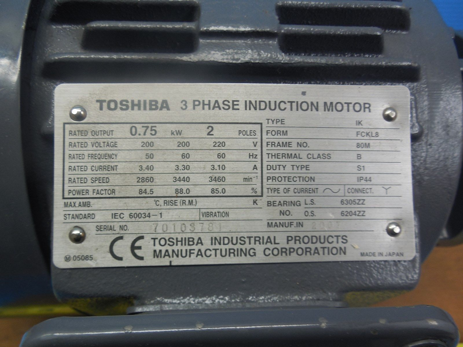 Toshiba peremium efficiency 3 phase 28 images 1 hp 3 for 10 hp motor weight