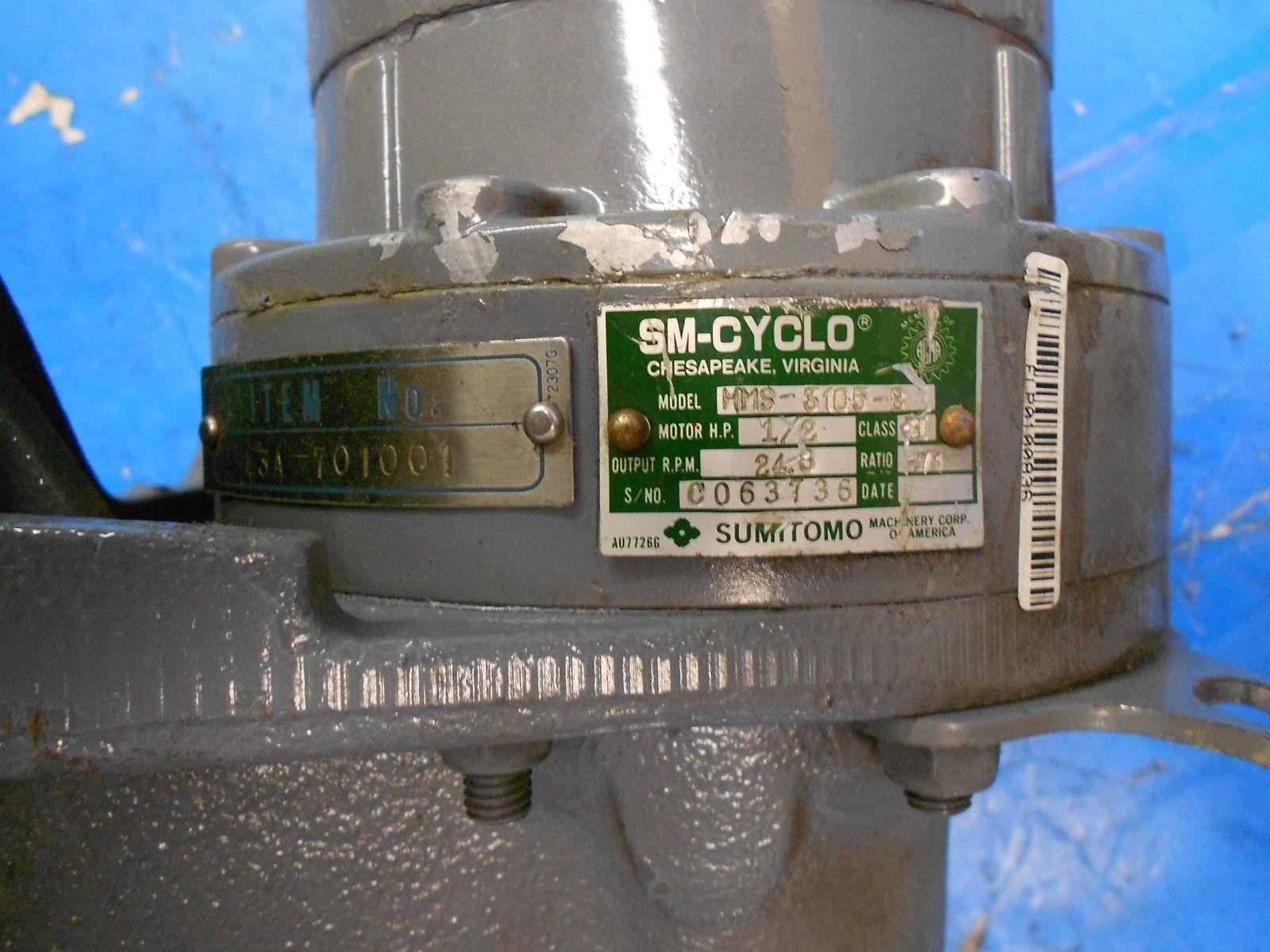 Sumitomo Sm Cyclo 3 Phase Induction Motor Hms 3105 B W