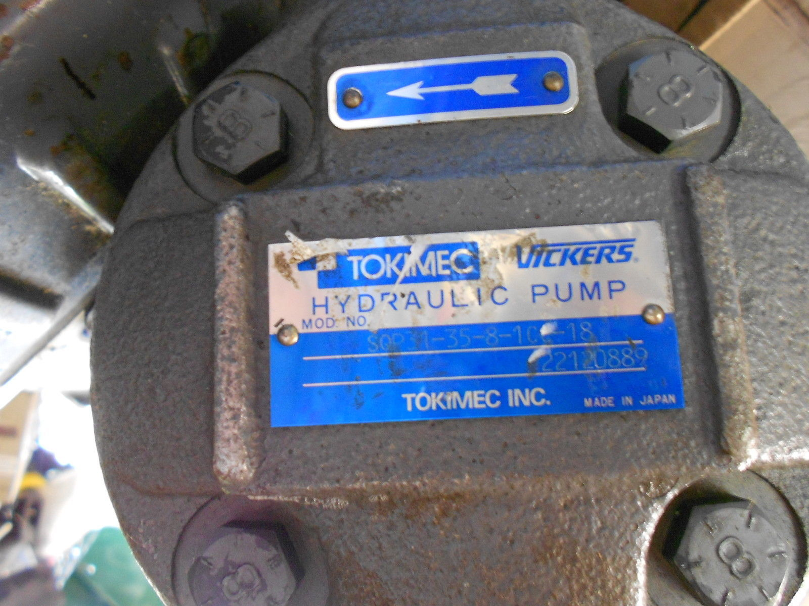 TOKIMEC VICKERS SQP31 33 8 1CC 18 HYDRAULIC PUMP INDUSTRIAL  MANUFACTURING TOOL