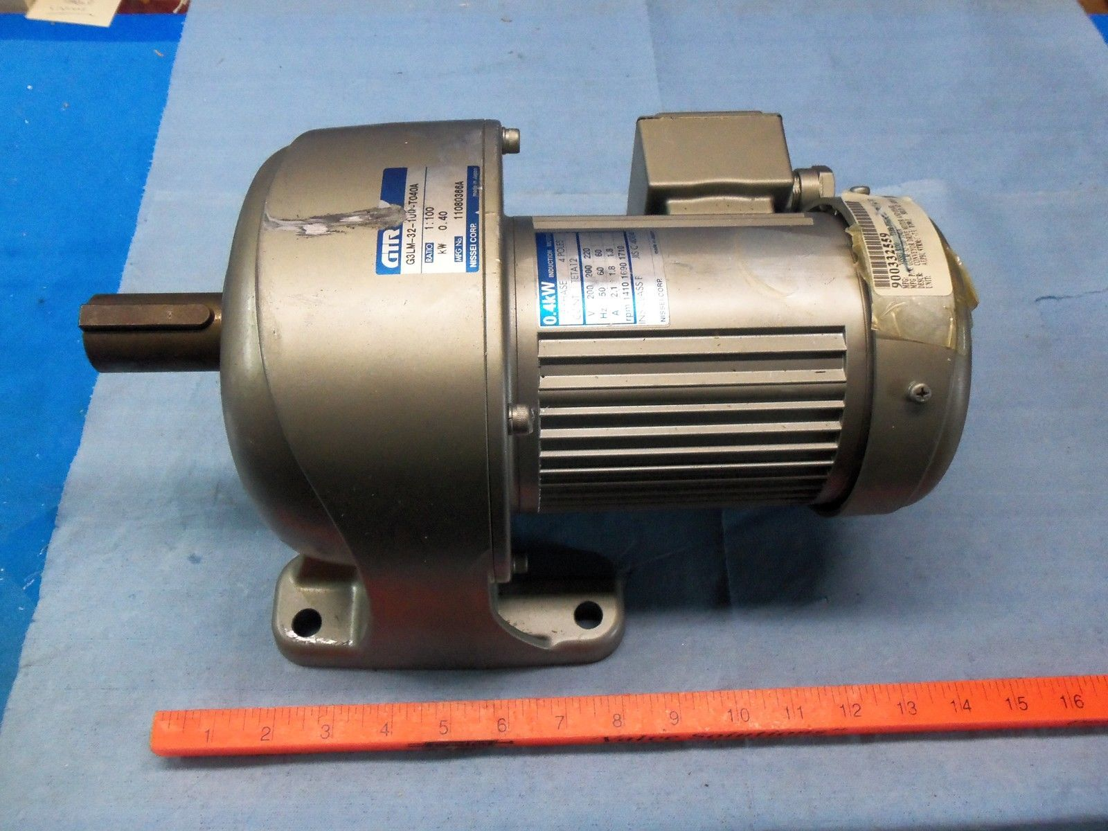 Nissei Gtr G3lm 32 100 Induction Motor Made In Japan