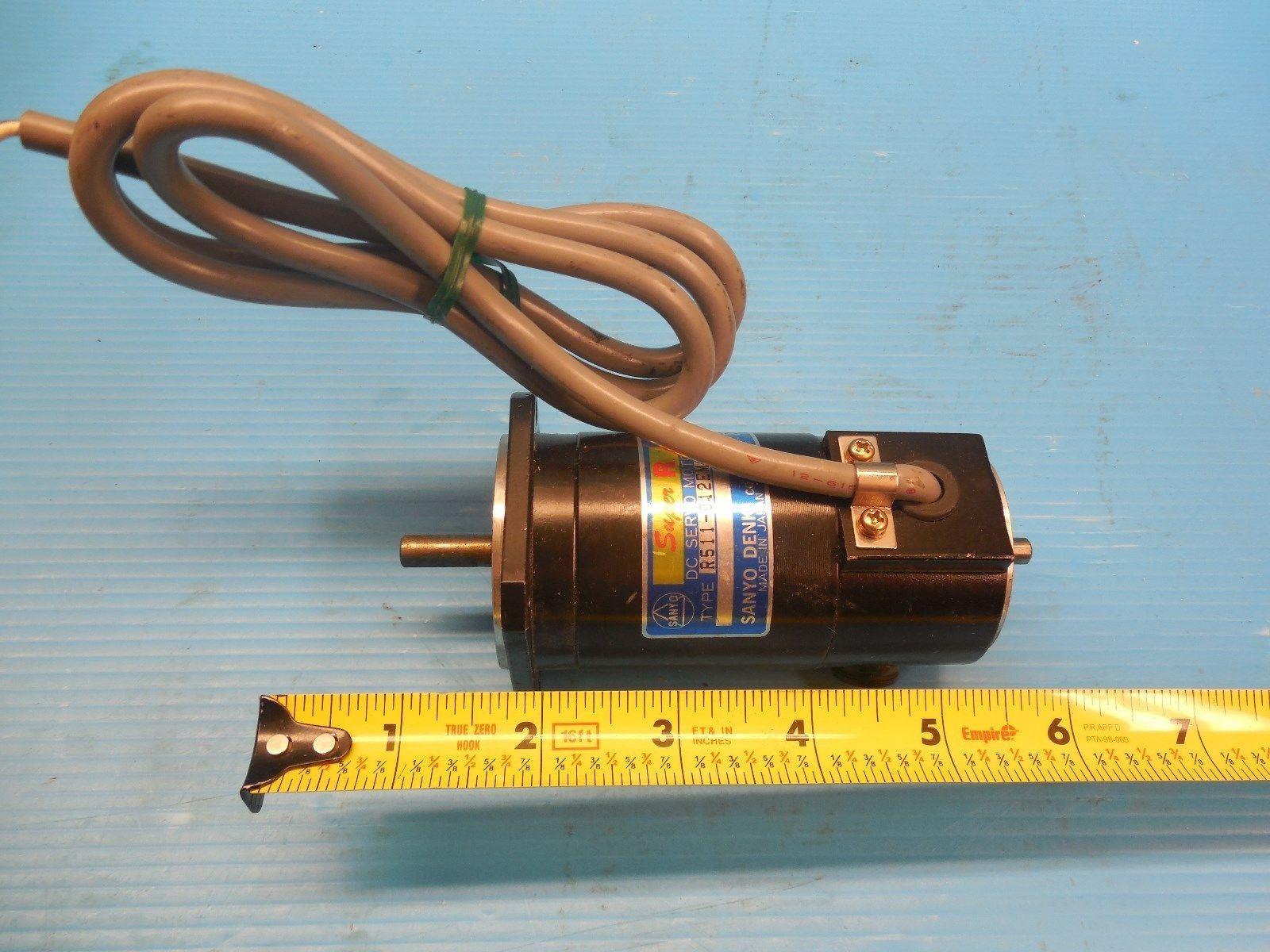 Sanyo Denki R511 012em Dc Servo Motor Industrial Made In Japan L6 30 M J Tooling Llc
