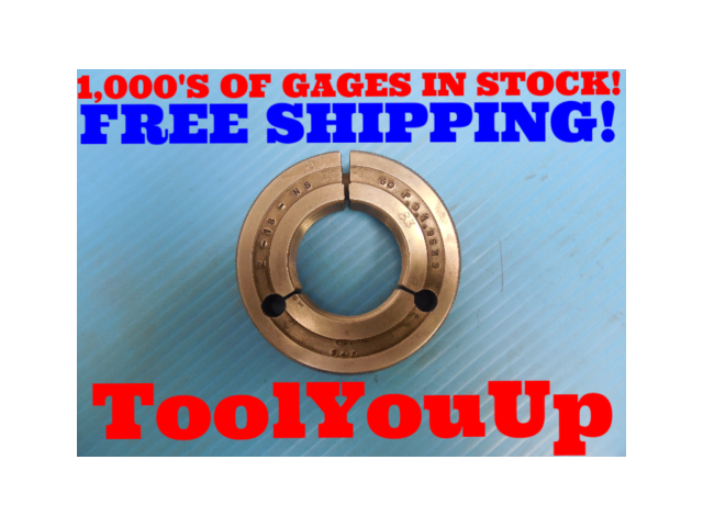 """2"""" 18 NS THREAD RING GAGE 2.0 GO ONLY P.D. = 1.9639 INSPECTION TOOLING TOOLS"""