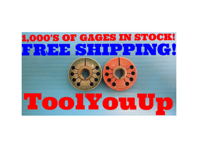 1/2 20 UNF 2A BEFORE PLATE THREAD RING GAGE 0.5 GO NO GO P.D. = .4652 & .4609