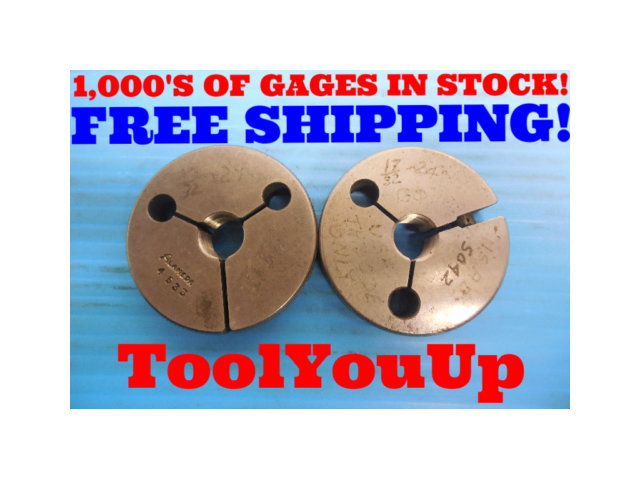 BUDGET PRICE 17/32 24 THREAD RING GAGES .53125 GO NO GO P.D. = .5042 & .4991