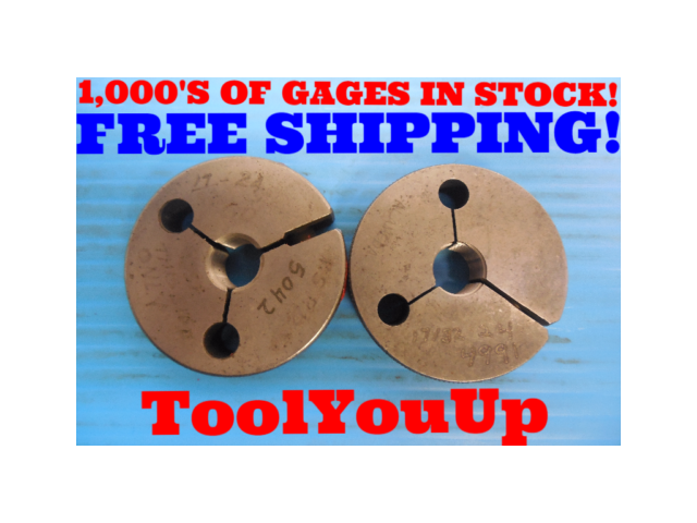 BUDGET PRICE 17/32 24 THREAD RING GAGES .531250 GO NO GO P.D. = .5042 & .4991