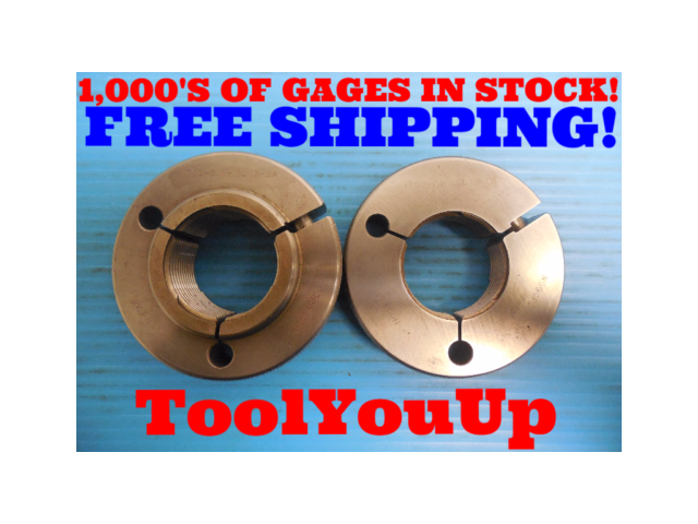 1 3/4 .1P .3L TS 3A THREAD RING GAGES 1.75 GO NO GO P.D. = 1.7140 &  1.7100 TOOL