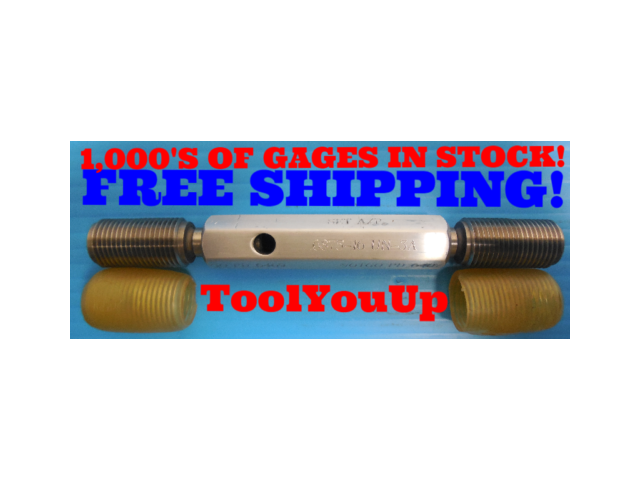 11/16 16 UN 3A SET THREAD PLUG GAGE .6875 GO NO GO P.D.'S = .6469 & .6407 TOOLS