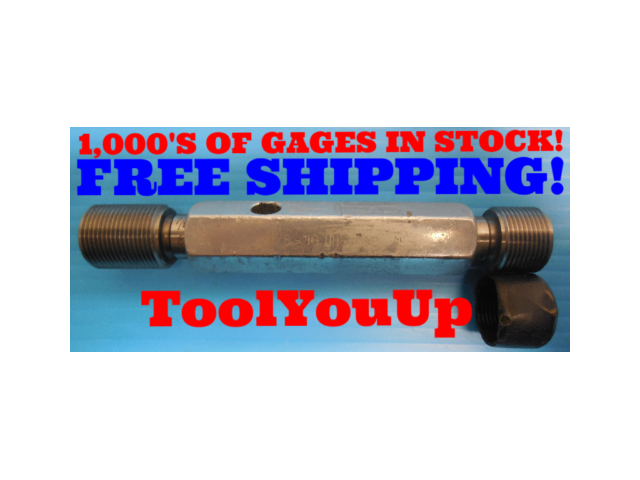 7/8 18 UNS 2B THREAD PLUG GAGE .875 GO NO GO P.D.'S = .8389 & .8449 INSPECTION