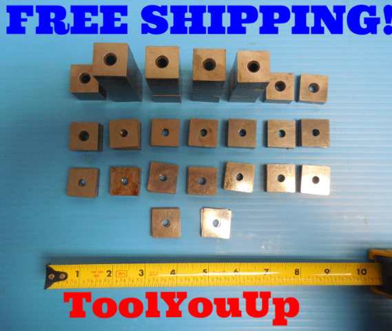 """P&W MISC 60 PCS STACKABLE GAGE BLOCKS JOHNNY .1005 - 1"""" GAGE BLOCKS"""