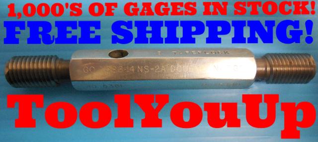 .586 14 NS 2A DOUBLE LEAD SET THREAD PLUG GAGE GO NO GO P.D.'S = .5381 & .5330