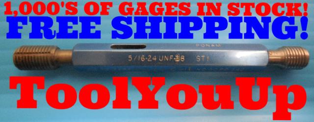 5/16 24 UNF 3B STI HELICOIL THREAD PLUG GAGE .3125 GO NO GO P.D.'S = .3395 .3421