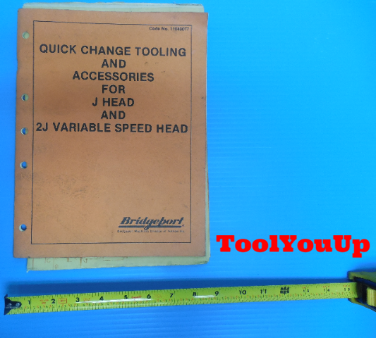 QUICK CHANGE TOOLING AND ACCESSORIES FOR J HEAD AND 2J VARIABLE SPEED HEAD