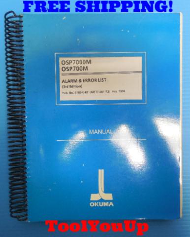 OSP7000M OSP700M ALARM AND ERROR LIST 3RD EDITION MANUAL OKUMA