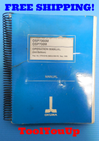 OSP7000M OSP700M OPERATION MANUAL 3RD EDITION MANUAL