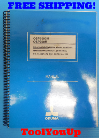 OSP7000M OSP700M MC-40VA/40VB/50VA/60VA VR40II MX-45/55VA MAINTENANCE MANUAL