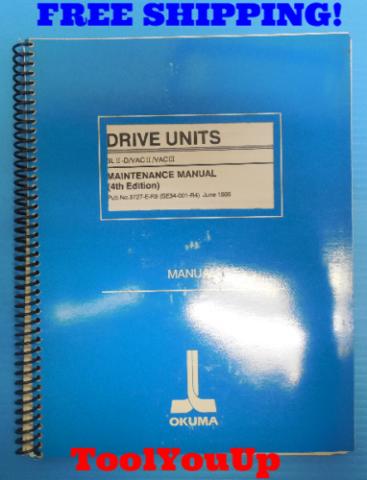 DRIVE NUTS BLII-D/VACII/VACIII MAINTENANCE MANUAL 4TH EDITION OKUMA