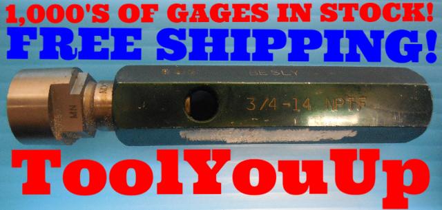 3/4 14 NPTF 6 STEP TRUNCATION PIPE THREAD PLUG GAGE .75 N.PT.F. INSPECTION TOOLS