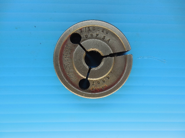 7/16 20 UNF 3A PREPLATE THREAD RING GAGE .4375 NO GO ONLY P.D. = .4007 TOOLING