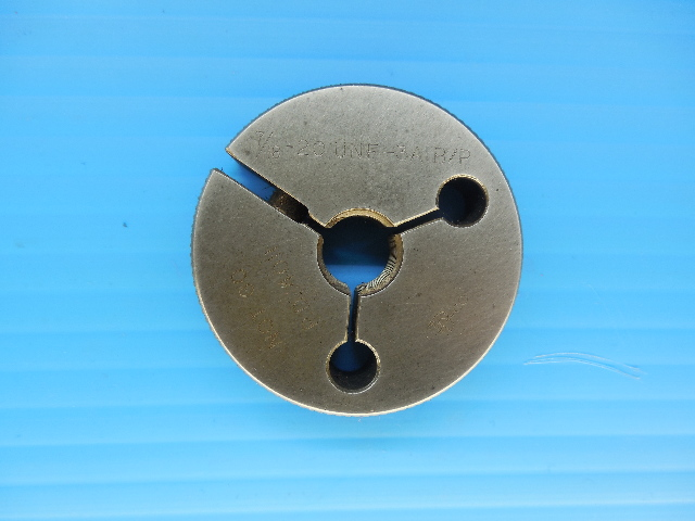 7/16 20 UNF 3A BEFORE PLATE THREAD RING GAGE .4375 NO GO ONLY P.D. = .4011