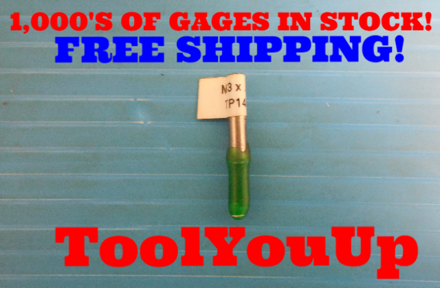 M3 X .5 6H METRIC THREAD PLUG GAGE 3.0 0.5 GO ONLY P.D. = 2.675 INSPECTION TOOL