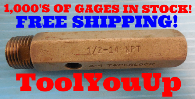 BUDGET PRICE 1/2 14 NPT L1 PIPE THREAD PLUG GAGE .500 14.00 N.P.T. INSPECTION