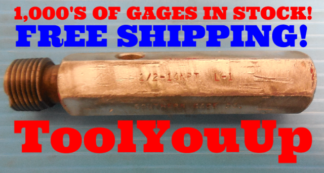 BUDGET PRICE 1/2 14 NPT L1 PIPE THREAD PLUG GAGE .50 14.0 N.P.T. INSPECTION TOOL