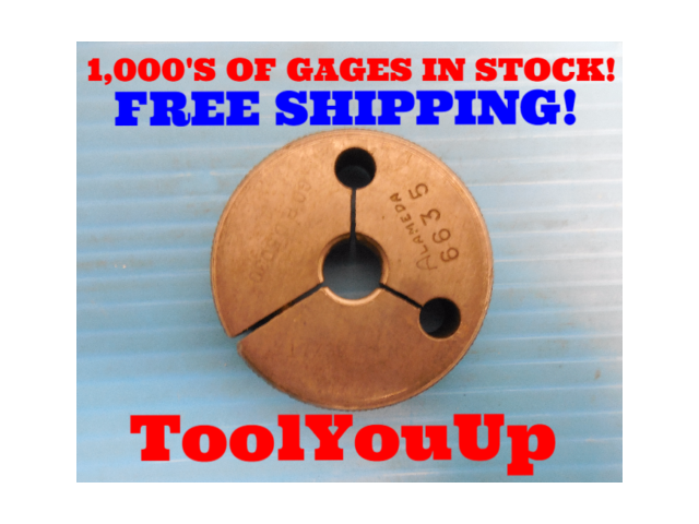 17/32 24 NS THREAD RING GAGE .53125 GO ONLY P.D. = .5030 INSPECTION TOOLMAKER