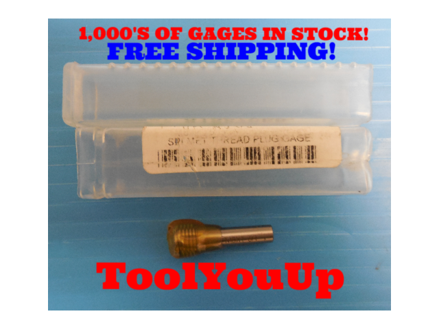 M8 X 1 6H METRIC THREAD PLUG GAGE 8.0 1.0 NO GO ONLY TAPERLOCK DESIGN TOOLING