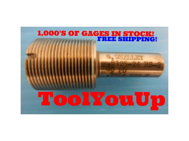 13/16 24 NS 2 THREAD PLUG GAGE .8125 GO ONLY P.D. = .7854 TAPERLOCK DESIGN TOOL