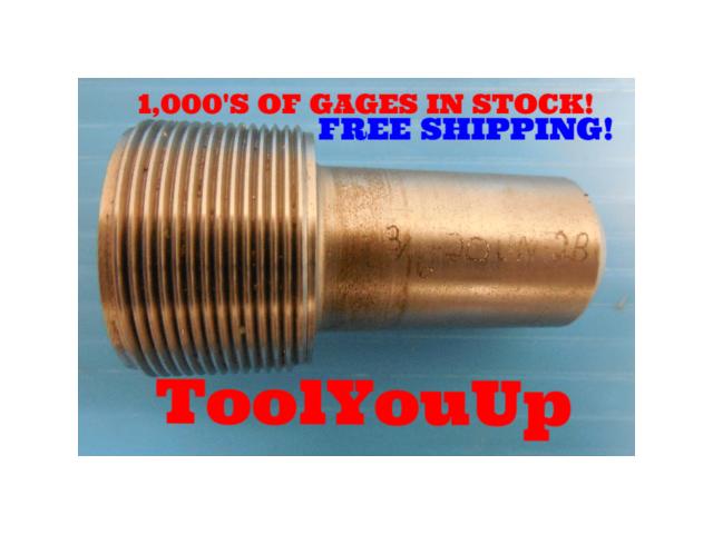 1 3/16 20 UN 2B THREAD PLUG GAGE .1875 NO GO ONLY P.D. = 1.1611 TAPERLOCK DESIGN