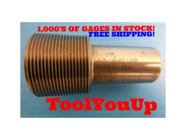1 3/16 20 UNS THREAD PLUG GAGE 1.1875 GO ONLY P.D. = 1.1550 TAPERLOCK DESIGN