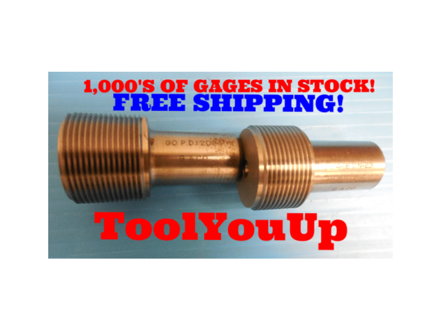 1 1/4 16 UN 2B THREAD PLUG GAGES 1.25 GO NO GO P.D. = 1.2094 & 1.2160 TAPERLOCK