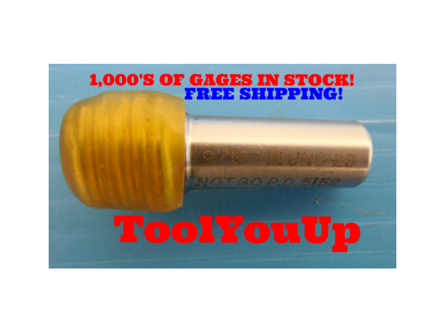 9/16 18 NF 2 THREAD PLUG GAGE .5625 NO GO ONLY P.D. = .5305 TAPERLOCK DESIGN