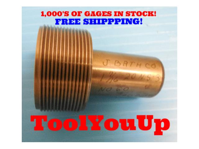 1 7/16 20 NS 3 THREAD PLUG GAGE 1.4375 NO GO P.D. = 1.4090 TAPERLOCK DESIGN TOOL