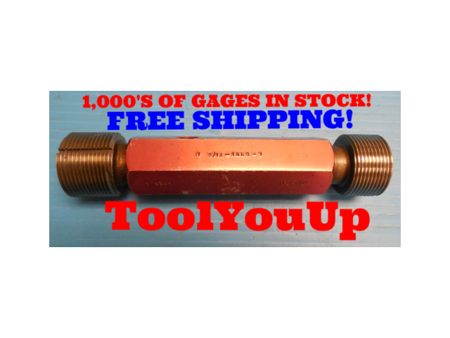 1 5/16 14 NS 3 THREAD PLUG GAGE 1.3125 GO NO GO P.D.'S = 1.2661 & 1.2701 TOOL