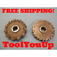 """2 pcs SHARP 6"""" X 1 1/2"""" X 1 1/4"""" STAGGERED TOOTH SIDE MILLING CUTTER 5/16"""" KEY"""