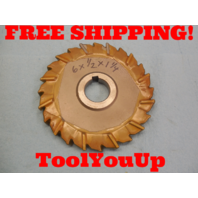 """6"""" X 1/2"""" X 1 1/4"""" STAGGERED TOOTH SIDE CNC MILLING SHARP CUTTER 5/16"""" KEY"""