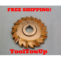 """6"""" X 5/8"""" X 1 1/4"""" STAGGERED TOOTH SIDE MILLING SHARP CUTTER 5/16"""" KEY TOOL"""
