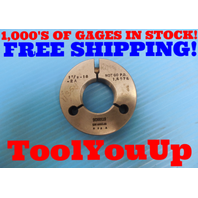 1 1/2 18 2A THREAD RING GAGE 1.5 NO GO ONLY P.D. = 1.4574 INSPECTION TOOLING