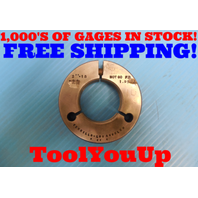"2"" 18 2A THREAD RING GAGE 2.0 NO GO ONLY P.D. = 1.9573 INSPECTION TOOLING TOOLS"