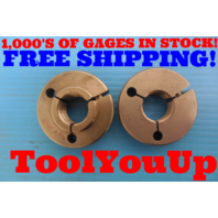 "1"" .1P .3L TS 2A THREAD RING GAGES 1.0 GO NO GO .9725 & .9686 INSPECTION TOOLING"