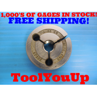 7/16 20 NS THREAD RING GAGE .4375 GO ONLY P.D. = .4040 INSPECTION TOOLING TOOLS