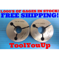 7/8 20 UNEF 2A THREAD RING GAGE .875 GO NO GO P.D.=.8412 & .8368 INSPECTION TOOL
