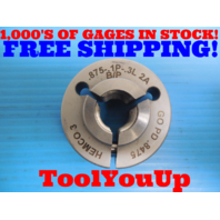 7/8 .1P .3L 2A BEFORE PLATE THREAD RING GAGE .875 GO ONLY P.D. = .8475 TOOLS
