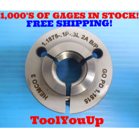 1 3/16 .1P .3L 2A BEFORE PLATE THREAD RING GAGE 1.1875 GO ONLY P.D. = 1.1515
