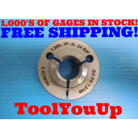 1 1/4 .1P .3L 2A BEFORE PLATE THREAD RING GAGE 1.25 GO ONLY P.D. = 1.2140 TOOLS