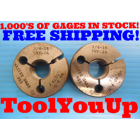 3/4 16 UNF 2A THREAD RING GAGE  .75 GO NO GO P.D. ARE =.7079 & .7029 INSPECTION